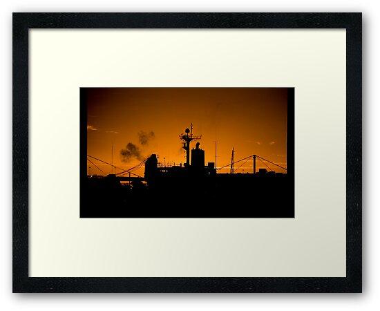 docklands sunset by Mik Efford