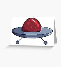 Little red spaceship Greeting Card