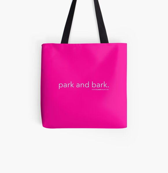 Park and Bark All Over Print Tote Bag