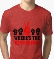 Where's The Revolution? v2 Tri-blend T-Shirt