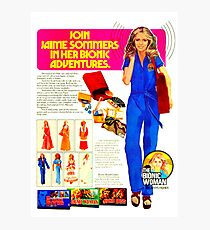 THE BIONIC WOMAN - HER NEW BIONIC ADVENTURES - AD Photographic Print