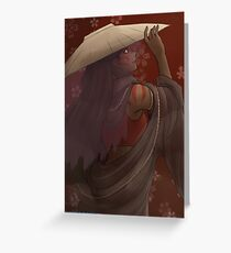The painted lady - the Last airbender Greeting Card