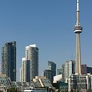 Up Close And Personal - Torontos Skyline From The Harbour by Georgia Mizuleva