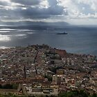 A Birds-eye View of Naples Italy by Georgia Mizuleva