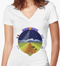 VENUS Mission Patch Women's Fitted V-Neck T-Shirt