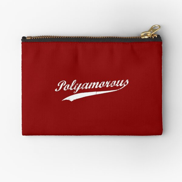 Team Polyamory Polyamorous and Proud Zipper Pouch