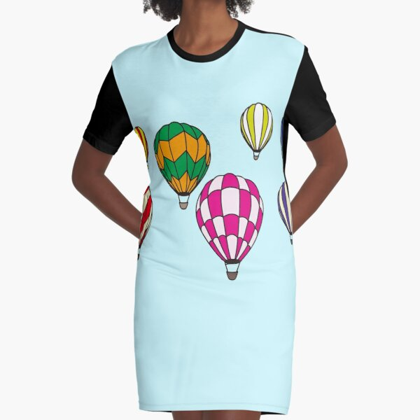 Balloon Parade Graphic T-Shirt Dress