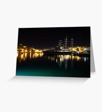 Reflecting on Malta - Vittoriosa and Senglea Megayachts Greeting Card