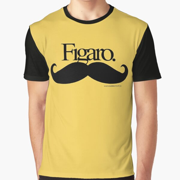 Figaro Mustache Graphic T-Shirt