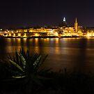Valletta, Malta Night Magic by Georgia Mizuleva