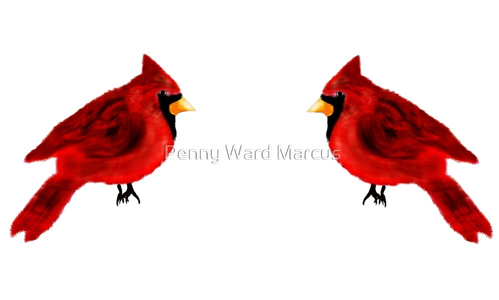 Two Cardinals by Penny Ward Marcus