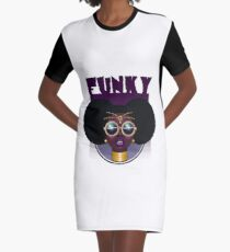 Funky Enough Graphic T-Shirt Dress