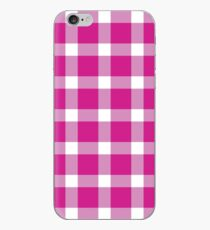 Kariertes Pink iPhone-Hülle & Cover