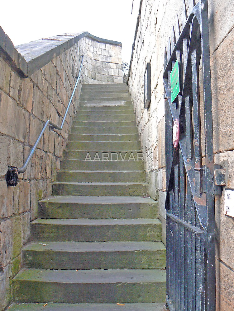 Steps To The Walls At York's Walmgate Bar by AARDVARK