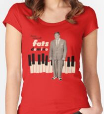 Here Stands fats Domino Women's Fitted Scoop T-Shirt