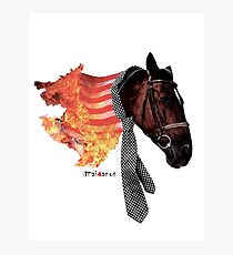 Flaming Horse Photographic Print
