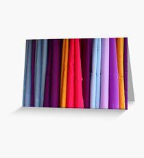 colored fabrics Greeting Card