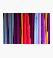 colored fabrics Photographic Print