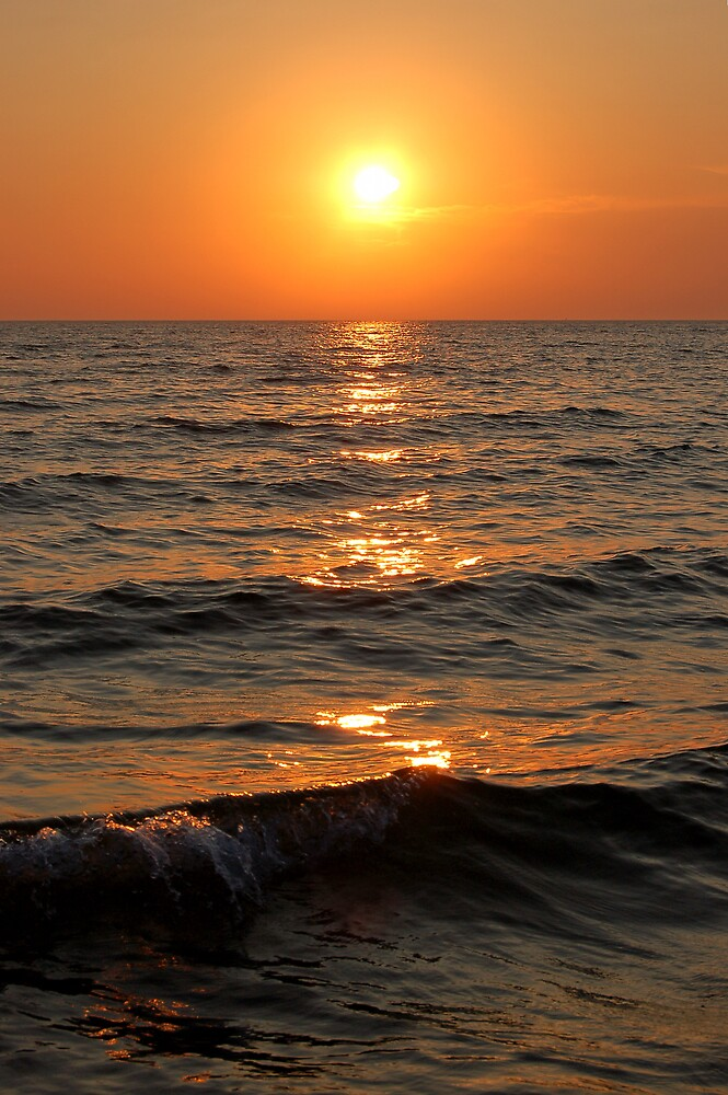 Sunset at Lake Michigan by Eric Dush