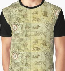 Sea Monsters Map Graphic T-Shirt