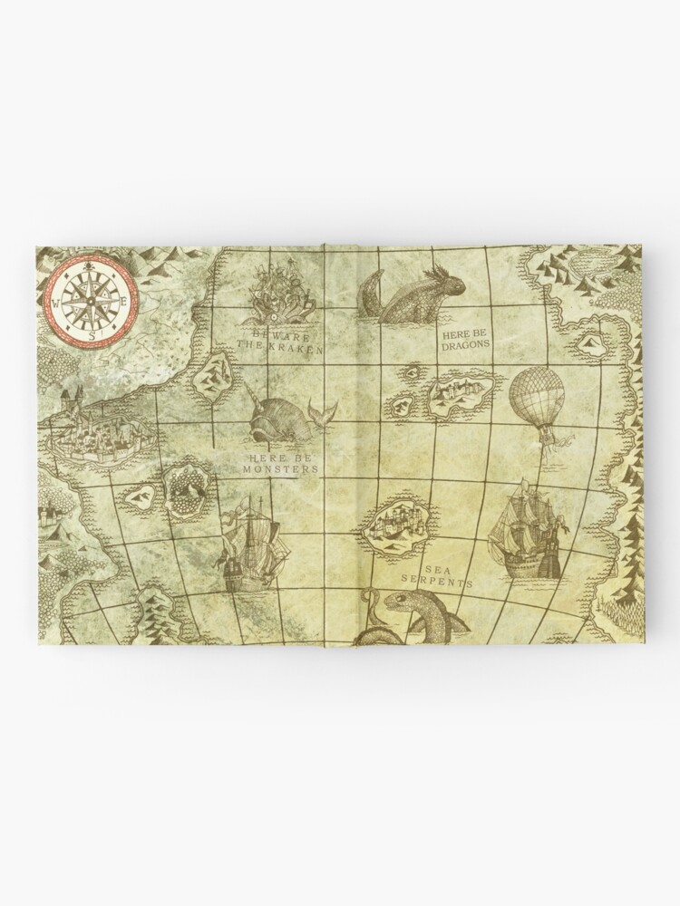 Alternate view of Sea Monsters Map Hardcover Journal