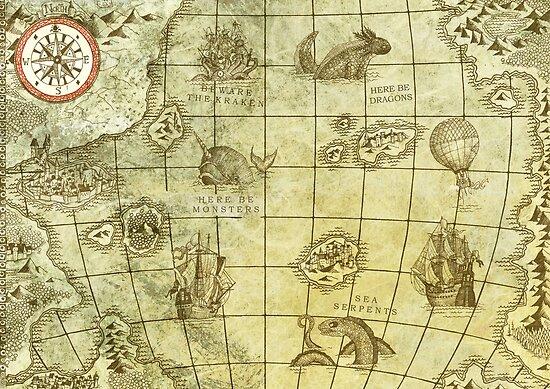 Seeungeheuer Karte von djrbennett