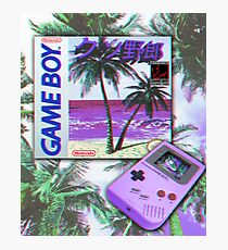 Gameboy Vaporwave Photographic Print