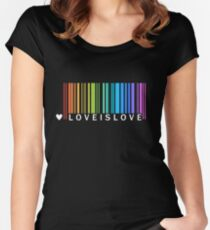 Love is Love - LGBT Pride t-shirt Women's Fitted Scoop T-Shirt