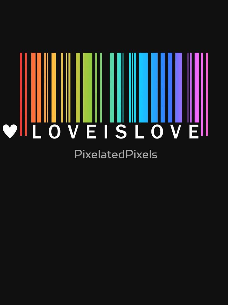 Love is Love - Camiseta LGBT Pride de PixelatedPixels
