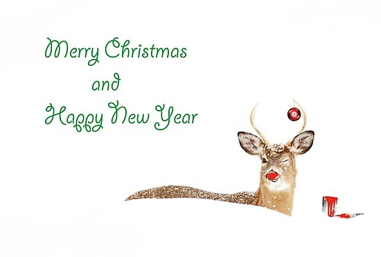 Merry Christmas and Happy New Year Deer by Jim Cumming