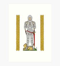English Knight Circa 1430 Art Print