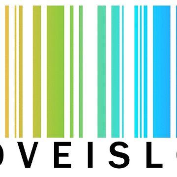 El amor es amor - LGBTQA Pride tee rainbow código de barras de PixelatedPixels