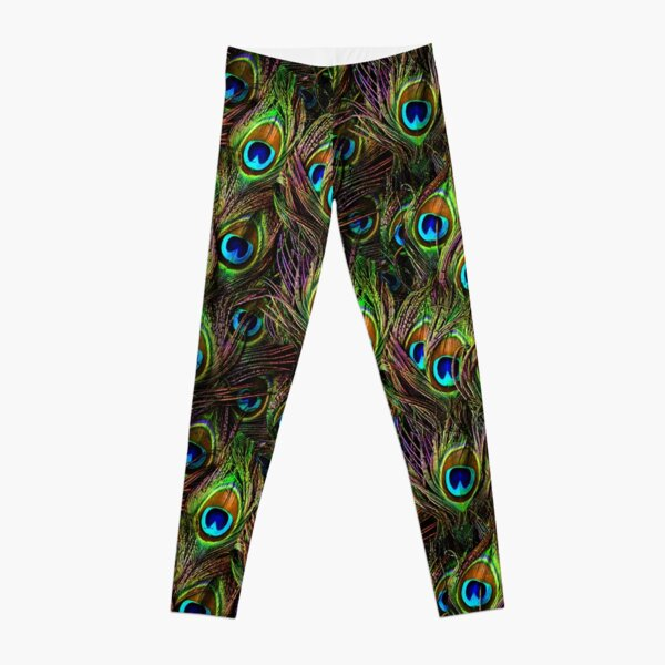 Peacock Feathers Invasion Leggings