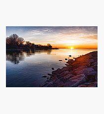 Purple Rocks Sunrise – Lake Ontario Impressions Photographic Print