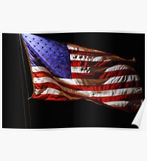 Red, White, Blue, and Black Poster