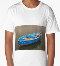 Bari Italy Fisherman's Boat in the sea Long T-Shirt