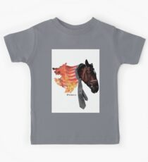 Flaming Horse Kids Tee