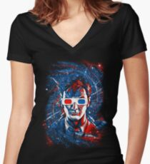 Doctor 10 3D Women's Fitted V-Neck T-Shirt