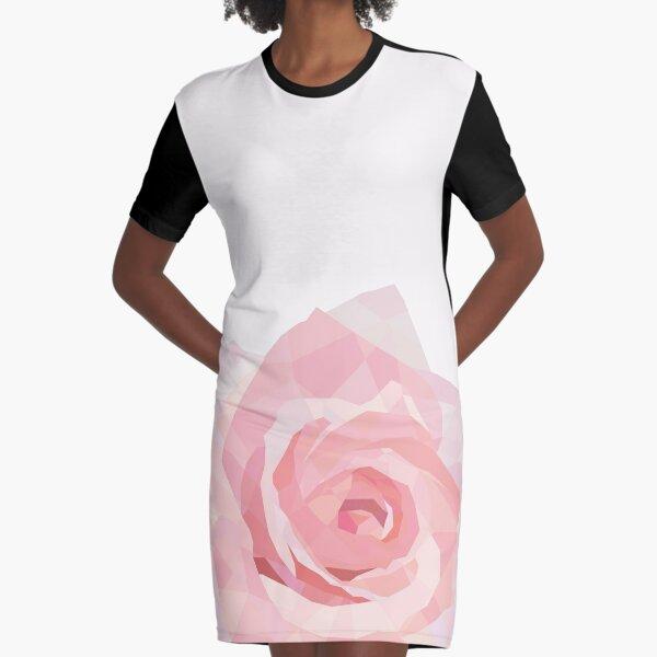 Crystal-Rose Graphic T-Shirt Dress