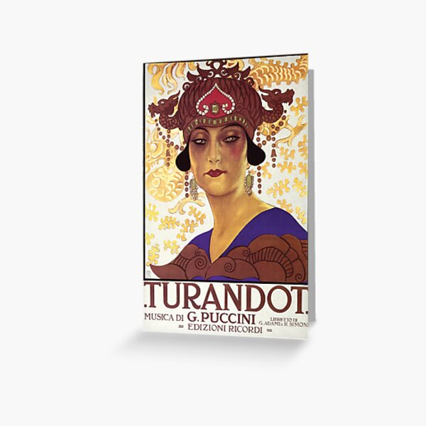 Turandot Vintage Greeting Card