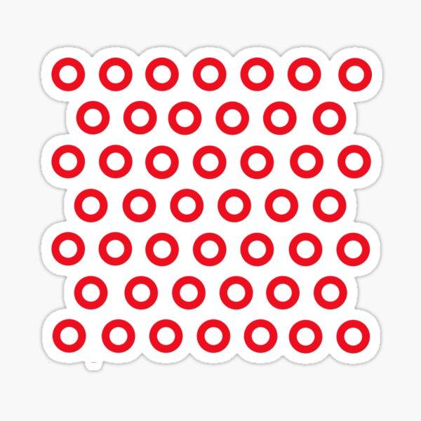 Jon Fishman - Phish Drummer Red Circle Print Sticker
