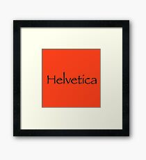 Helvetica in Papyrus Framed Print