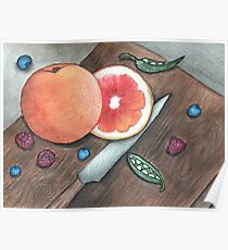 """""""Quiet in the Kitchen"""" Watercolor Painting Design Poster"""