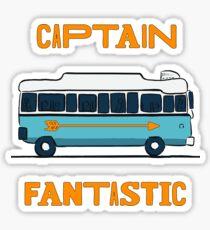 captain fantastic bus Sticker