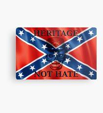 Southern Heritage Not Hate Metal Print