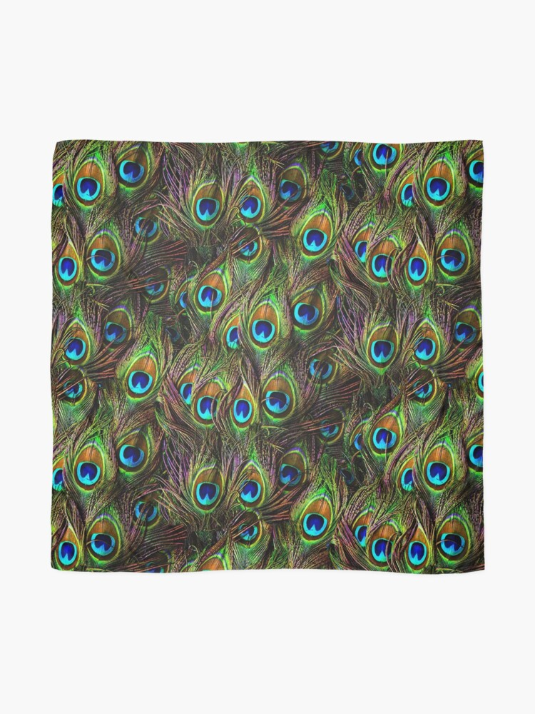 Alternate view of Peacock Feathers Invasion Scarf