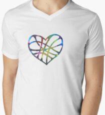 Heart & Soul Mens V-Neck T-Shirt