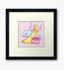 Peach Fruit and Banana Angels Framed Print