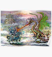Knights & Dragons Poster