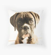 The Meaning Of Life - You AsK? - Boxer Dogs Series Throw Pillow